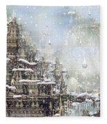 Temples Of The North Fleece Blanket