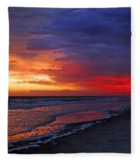 Ten Minutes On The Beach  Fleece Blanket