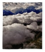 Ten Thousand Feet Over Denali Fleece Blanket