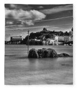 Tenby Harbour 1 Mono Fleece Blanket
