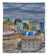 Tenby Harbour In Summer 2 Fleece Blanket