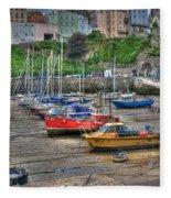 Tenby Harbour In Summer 3 Fleece Blanket