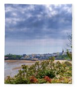 Tenby Pembrokeshire Painted Fleece Blanket