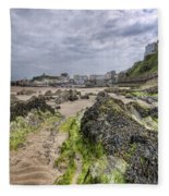 Tenby Rocks 2 Fleece Blanket