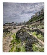 Tenby Rocks 3 Fleece Blanket