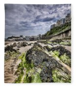 Tenby Rocks 4 Fleece Blanket