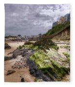 Tenby Rocks Painted Fleece Blanket