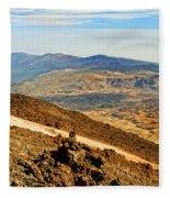Tenerife Volcanic Landscape Fleece Blanket