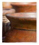 Terracotta Mexican Pottery Fleece Blanket