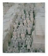 Terracotta Warriors In Xian In China Fleece Blanket