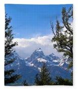 Teton Through The Trees Fleece Blanket