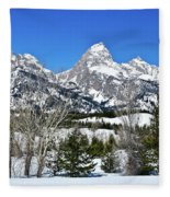 Teton Winter Landscape Fleece Blanket