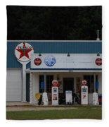 Texaco Gas Station Fleece Blanket