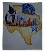 Texas Bound 3 Fleece Blanket
