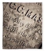 Tcm - C.c. Mason Grave Fleece Blanket