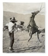 Texas: Cowboy, C1910 Fleece Blanket