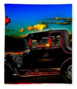 Texas Hot Rod Fleece Blanket