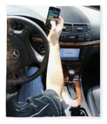 Texting And Driving Fleece Blanket