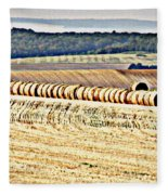 Textured Fields Of France Fleece Blanket