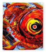 Textured Red Fish Fleece Blanket
