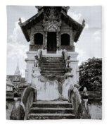 Thai Architecture Fleece Blanket