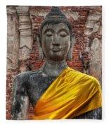 Thai Buddha Fleece Blanket