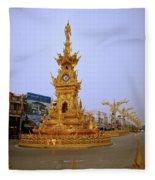Thai Clock Tower  Fleece Blanket
