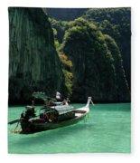 Thai Long Tail Boat  Fleece Blanket