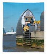 Thames Barrier Fleece Blanket