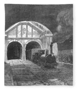 Thames Tunnel: Train, 1869 Fleece Blanket