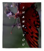 Thank You Card - Butterfly Fleece Blanket