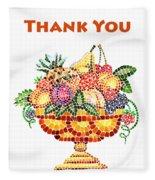 Thank You Card Fruit Vase Fleece Blanket