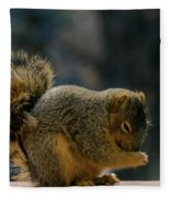 Thank You For The Nuts Fleece Blanket