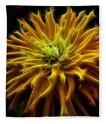 thank you Zinnia Flower Fleece Blanket