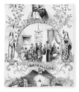 Thanksgiving, 1852 Fleece Blanket