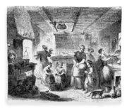 Thanksgiving, 1855 Fleece Blanket