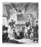 Thanksgiving, 1855 Fleece Blanket