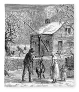 Thanksgiving, 1882 Fleece Blanket