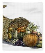 Thanksgiving: Cornucopia Fleece Blanket