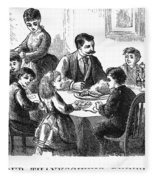 Thanksgiving Dinner, 1873 Fleece Blanket