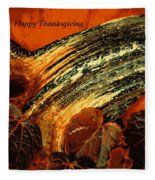 Thanksgiving Greeting Card Fleece Blanket