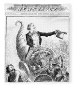 Thanksgiving Parade, 1887 Fleece Blanket