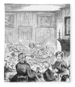 Thanskgiving Dinner, 1857 Fleece Blanket