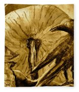 That Which Lies Behind In Sepia Fleece Blanket