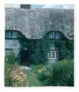 Thatched Roof, England Fleece Blanket