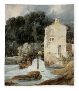 The Abbey Mill - Knaresborough Fleece Blanket