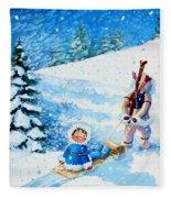 The Aerial Skier - 1 Fleece Blanket