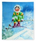 The Aerial Skier - 9 Fleece Blanket