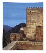 The Alcazaba The Alhambra Fleece Blanket