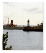 The Alpena Ship Fleece Blanket